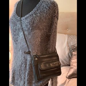 Fossil black crossbody